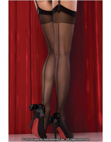 Sheer Back Seam Stockings by Coquette CQ1756