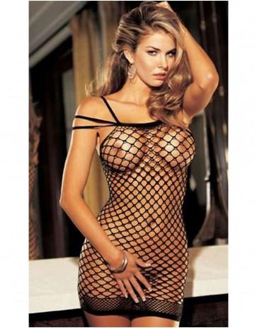 Big Hole Fishnet Dress 90018