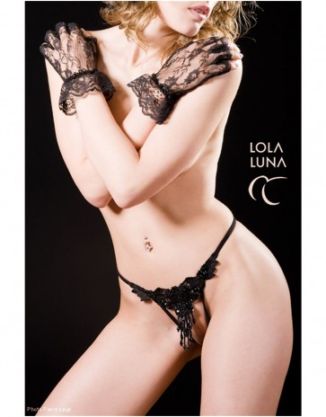 Sexy Jewelled Open Thong  by Lola Luna