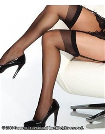 Thigh High Sheer Stockings By Coquette CQ1706