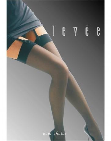 Levee 7002 Plus Size Black Stockings