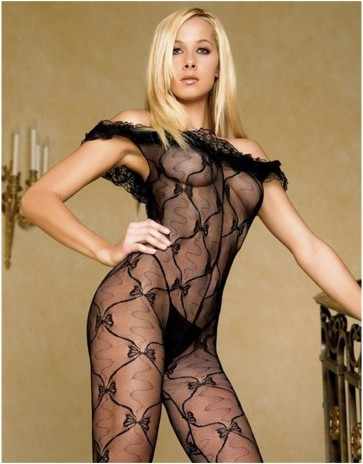 Bow lace Bodystocking Made By Leg Avenue 8809