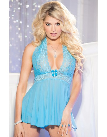 Shirley of Hollywood 6164 babydoll in Turquoise