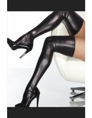 Black Wet Look Stockings