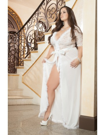 Gworld Glam Night Plus Size Robe  - D1504P