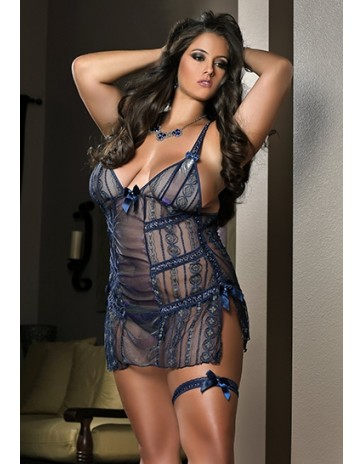 Plus Size Mini Dress Babydoll by G World Lingerie