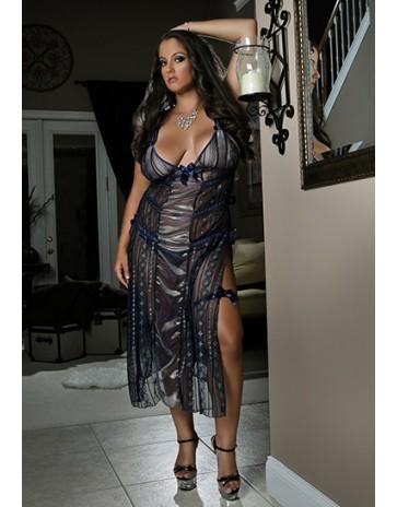 G World Sexy Bachelorette Plus Size Blue Dress