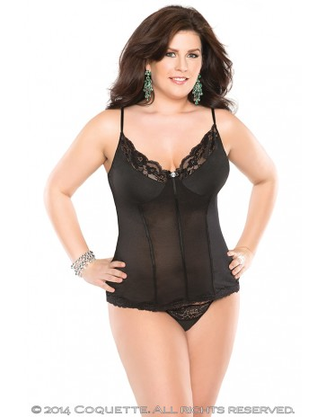 Hot Bustier and G-String Set Plus Size