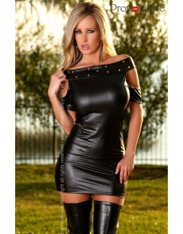 Wet Look Mini Dress by Provocative