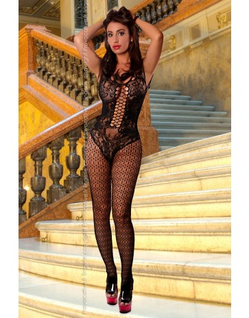 Provocative Lingerie Black Bodystocking