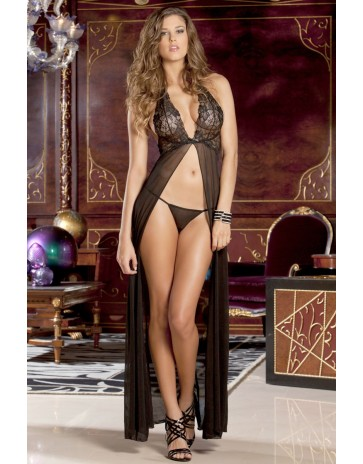Rene Rofe Black Lace Gown