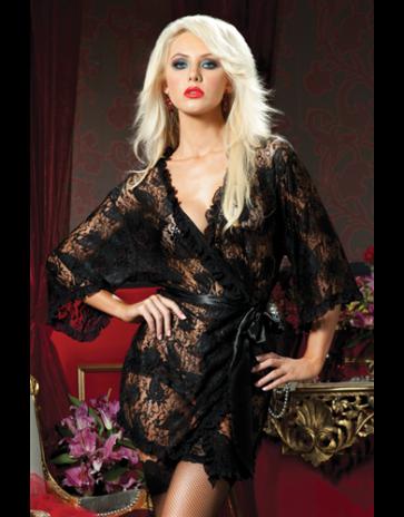 Seven 'til Midnight Paisley Pleasure Lace Robe