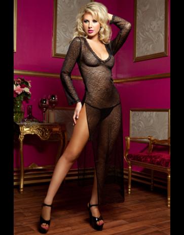 Seven 'til Midnight Secret Affair Lace Gown
