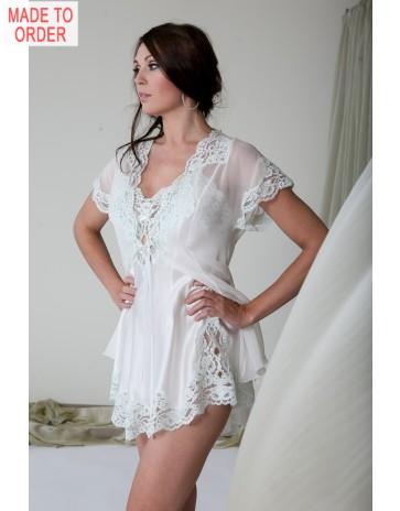 Jane Woolrich Gorgeous Silk Robe - 7089