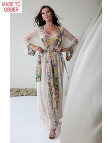 Floral Jane Woolrich Silk Robe