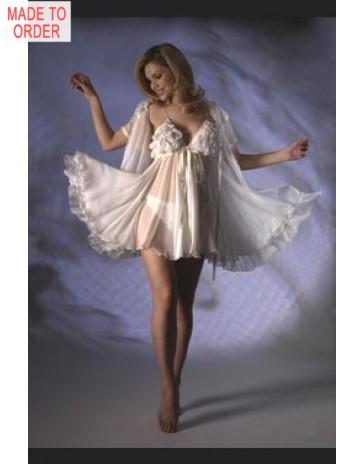 3265 / 3282 Silk Babydoll & Robe by Jane Woolrich