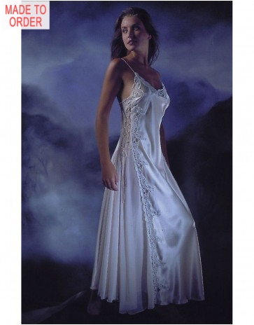 Jane Woolrich Satin Nightdress (8475P)