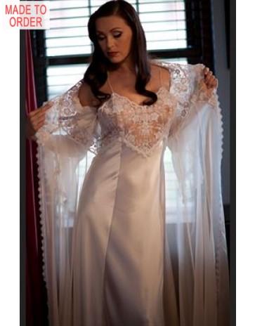 8178 & 8187 Luxury Silk Nightdress & Robe By Jane Woolrich