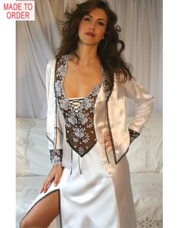 Paris Long Silk Nightdress by Diki