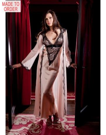Alluring Jane Woolrich Silk Robe 8286