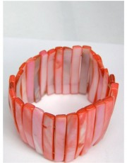 Pink Shell Bracelet - Unusual Design