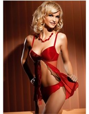 Gracya Natalie Red Babydoll Set