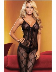 Hustler Lace-Up Bow Bodystocking