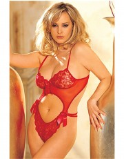 Shirley of Hollywood  Rose Lace Teddy - 6237
