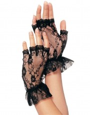 Leg Avenue Black Wrist Length Gloves G1205
