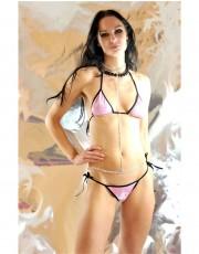 Shiny Pink Micro Bikini