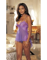 Shirley of Hollywood Violet Babydoll Set