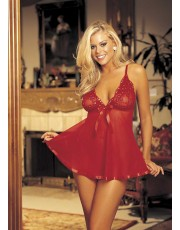 Pure Net Red Babydoll by Shirley Hollywood