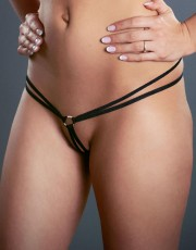 Double Strap Micro G-string with Ring by Fearless & Fun