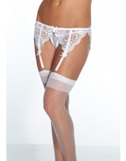 Coquette French White Lace Garter Belt
