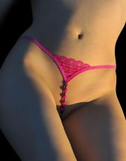 Sizzling Pink Beaded String By Titlion