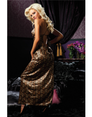Floor Length Leopard Gown (STM30113) by Seven 'til Midnight
