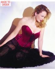Jane Woolrich Dark Pink Silk Corset