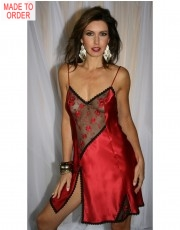 Ruby Silk Carmen Chemise by Diki