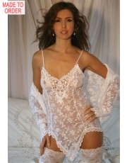 SIENNA White Lace Chemise by DIKI