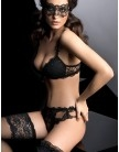 Embroidered Plunge Moulded Padded Bra